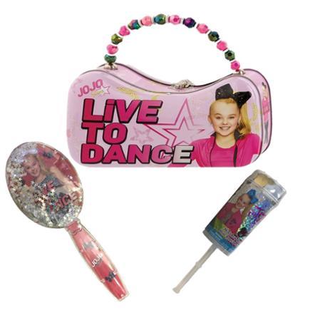 JoJo Siwa Scoop Tin Purse - Brush and Confetti Poppers with Mini Bow Bundle