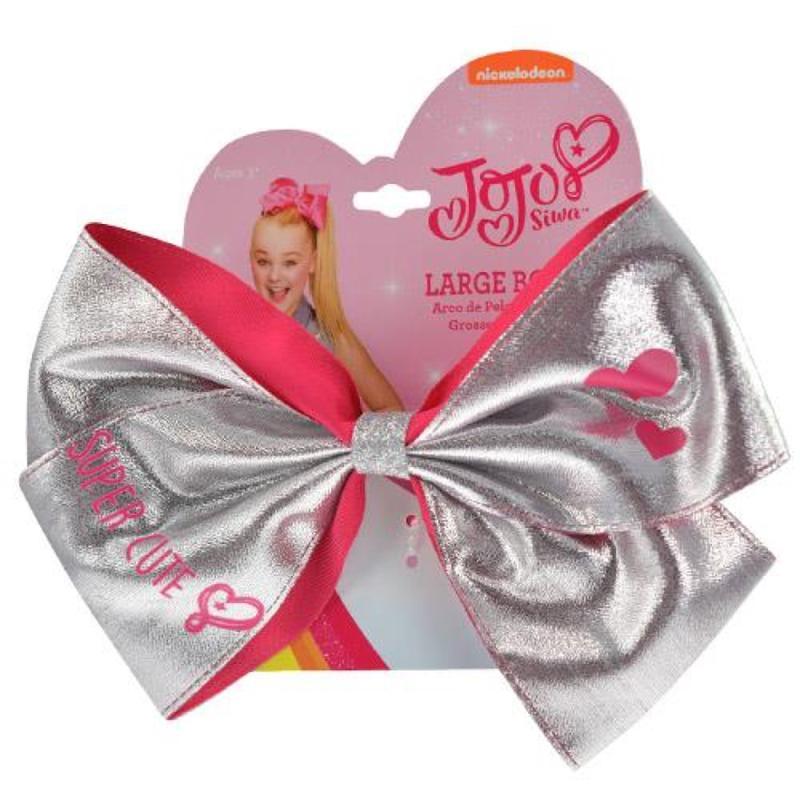 JoJo Siwa Silver Metallic Hair Bow