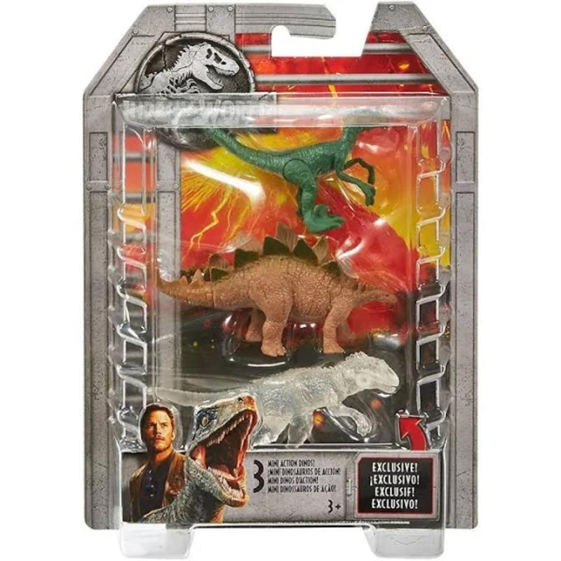 Jurassic World Mini Stegosaurus Velociraptor & Indominus