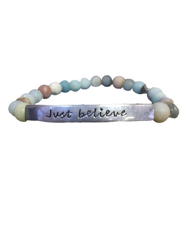 Just Believe Matte Stretch Bracelet