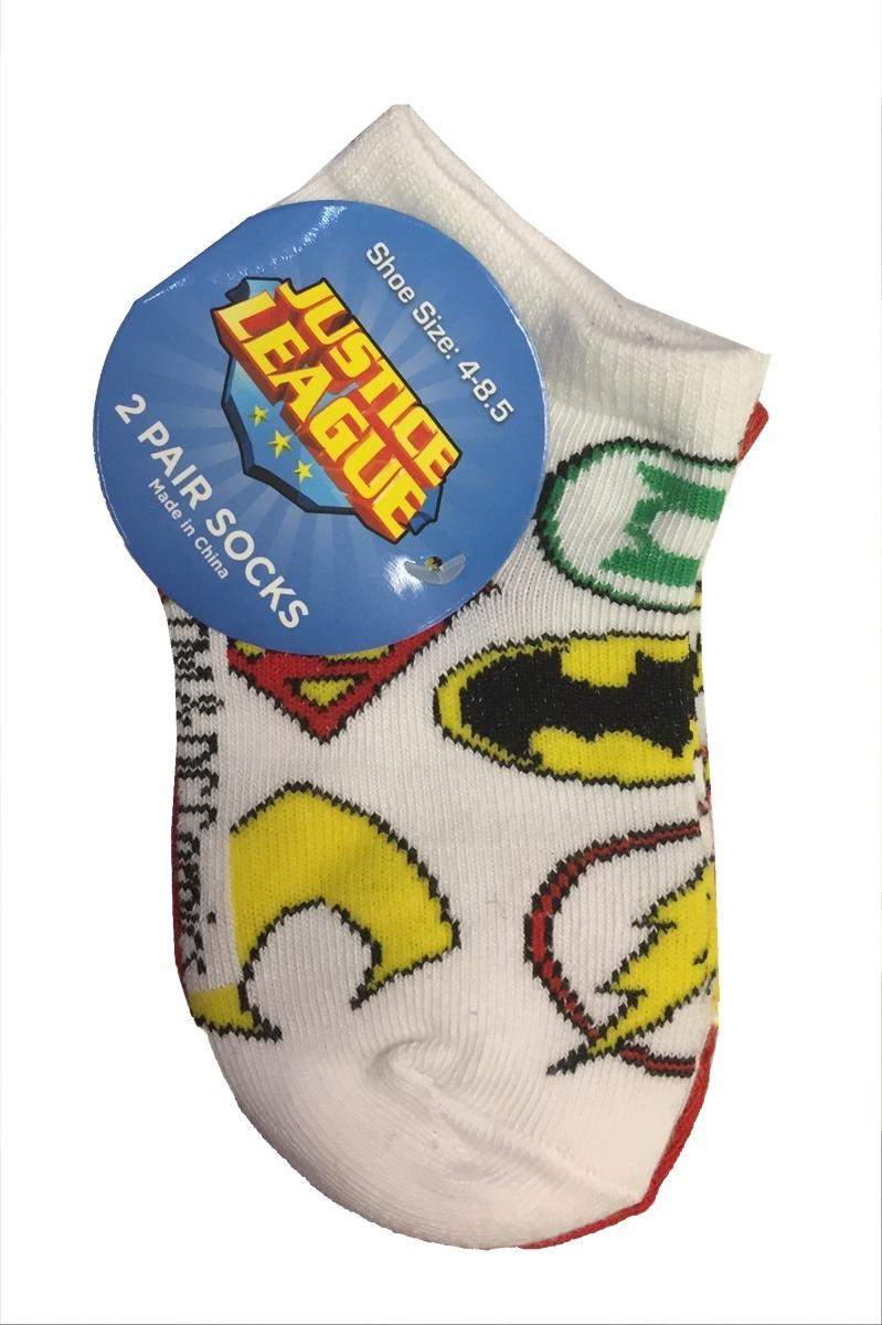 Justic League 2 Pair Kids Socks