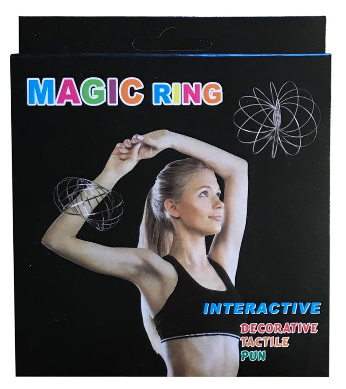 Kinetic 3D Magic Flow Rings