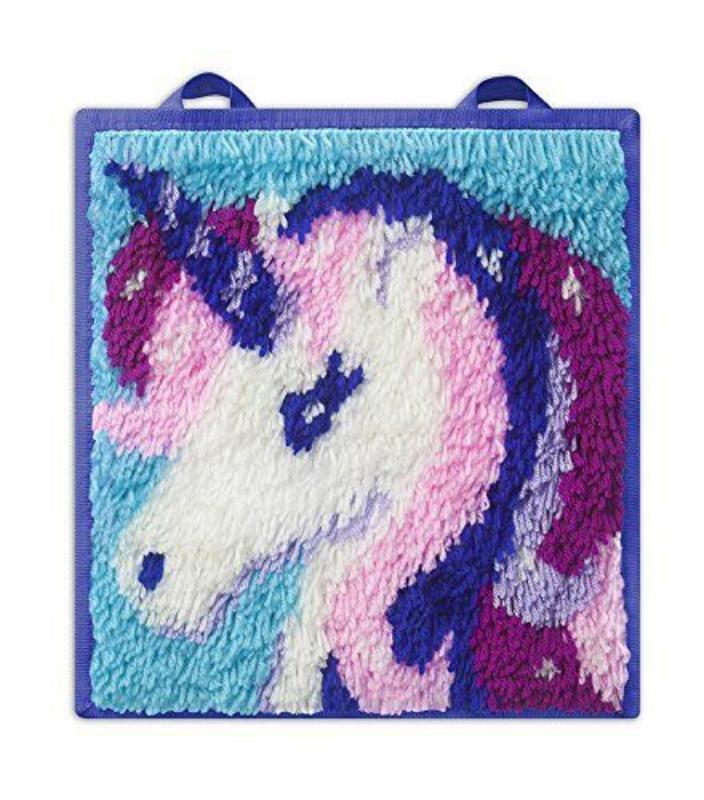 Classic Latch Hook Craft Kit- Unicorn