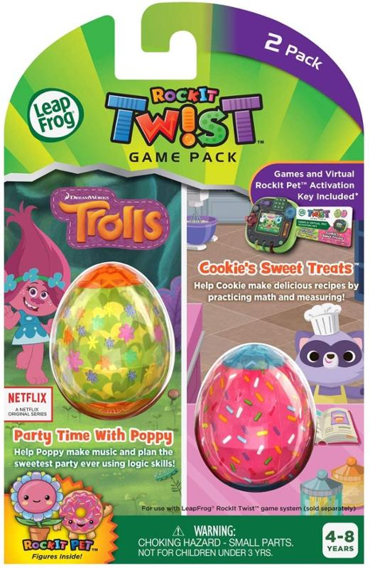 LeapFrog Rockit Twist 2 Game Pack Trolls Party Time with Poppy and Cookie's Sweet Treats
