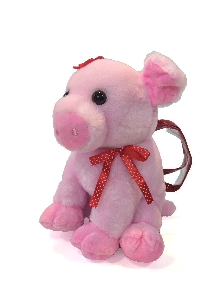 Kids Piggy Plush Handbag Purse