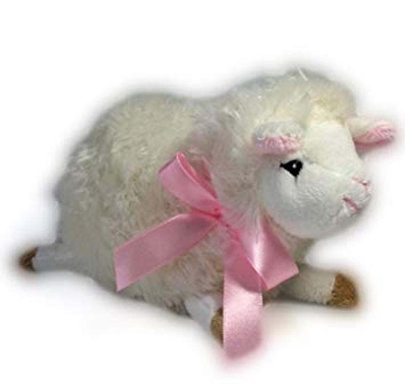 Adorable Mini Lulu Lamb With Pink Bow