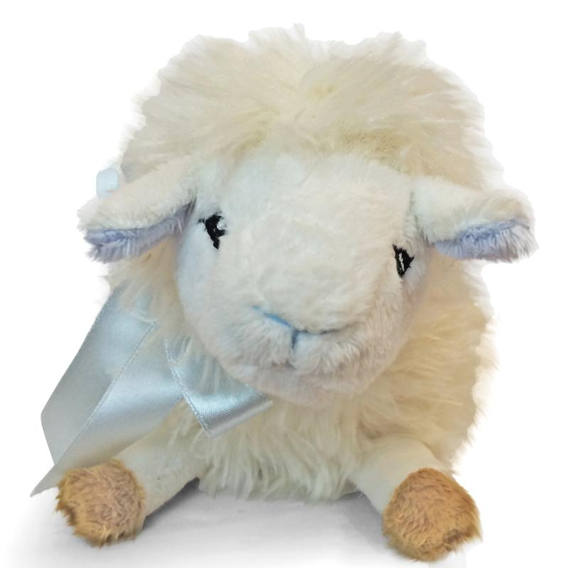 Adorable Mini Lulu Lamb With Blue Bow