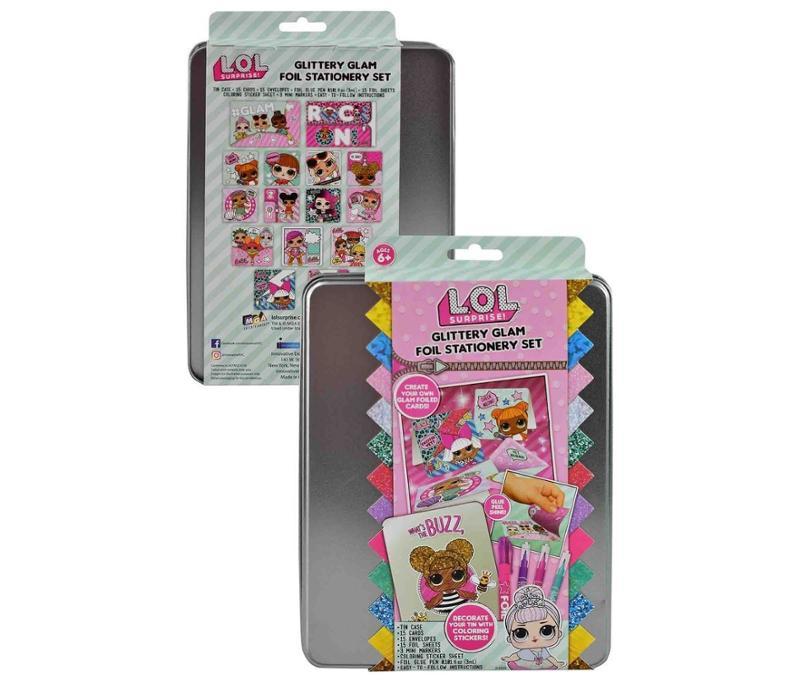 L.O.L. Surprise! Glittery Glam Foil Stationery Set