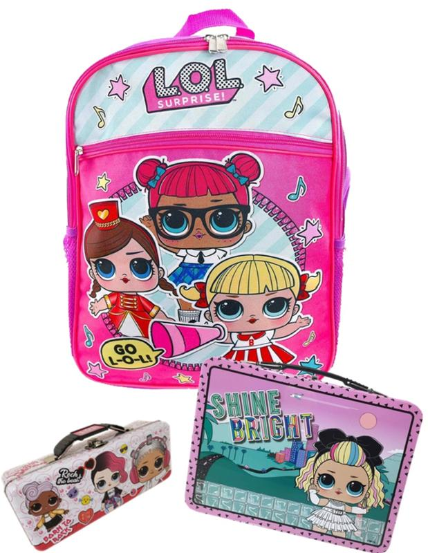 LOL Surprise Backpack, Pencil Case, and Lunch Box