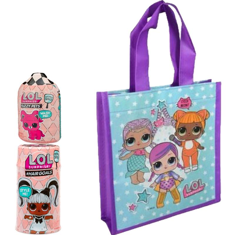 L.O.L. Surprise! Make Over Series Hair Goals, Lil's, and Tote Bag 3 Piece Set