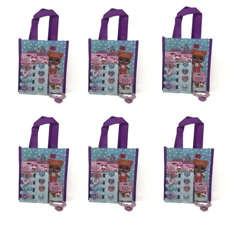 L.O.L. Surprise! Party Favors Gift Set, Rings, Bracelet and Gift Bag 4 Piece Bundle