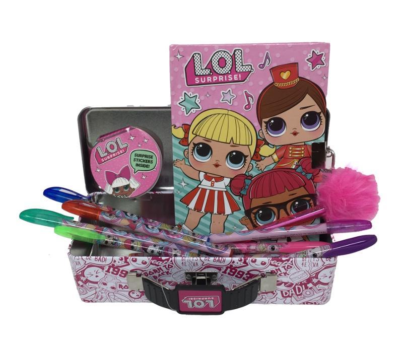LOL Surprise Secret Diary, Gel Pens and Pencil Case Bundle