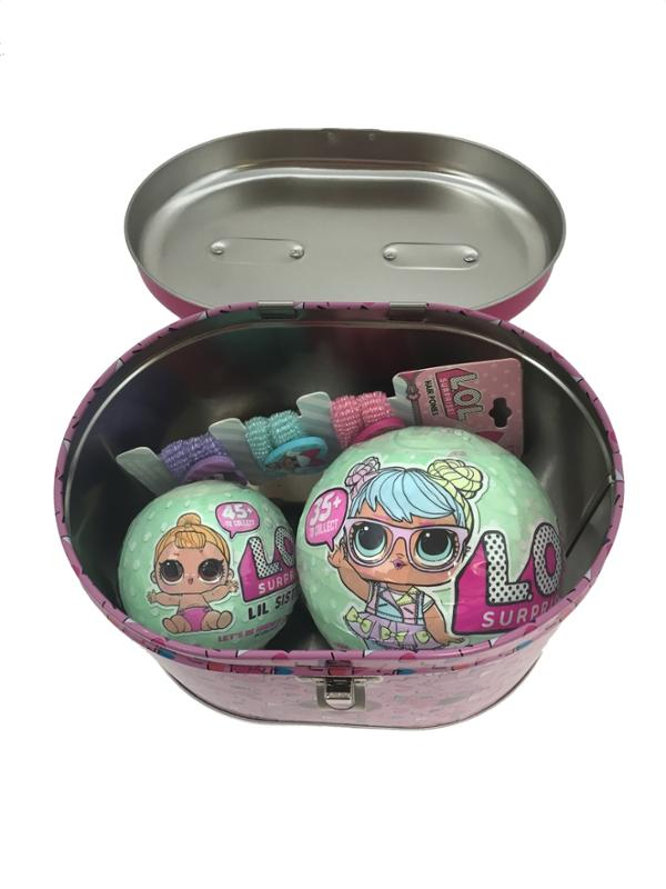 L.O.L. Surprise Series 2 Doll, Series 2 Lil Sister, Hair Ponies in a Storage Tin