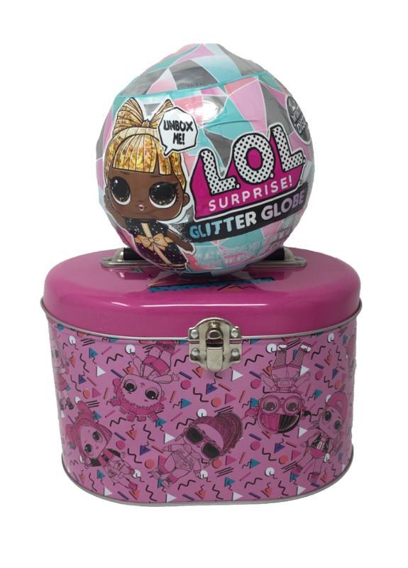 L.O.L. Surprise Winter Disco Glitter Globe and Storage Tin Bundle