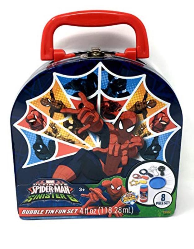 Spider-Man 8 Pc Bubble Tin