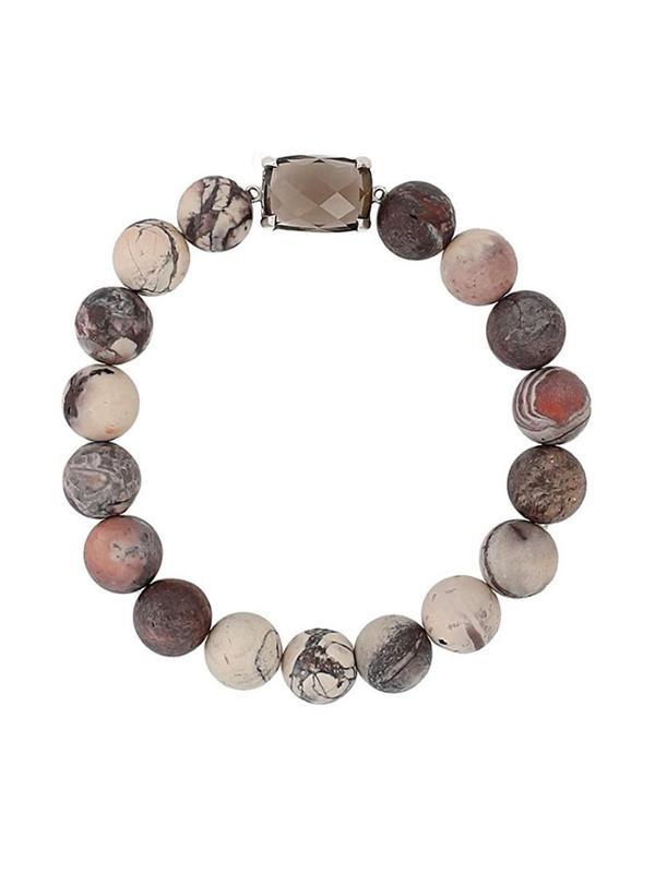 Matte Stone Stretch Bracelets Light Brown