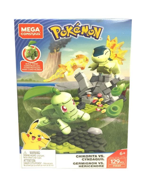 Mega Construx Pokemon Battle Chikorita Vs. Cyndaquil