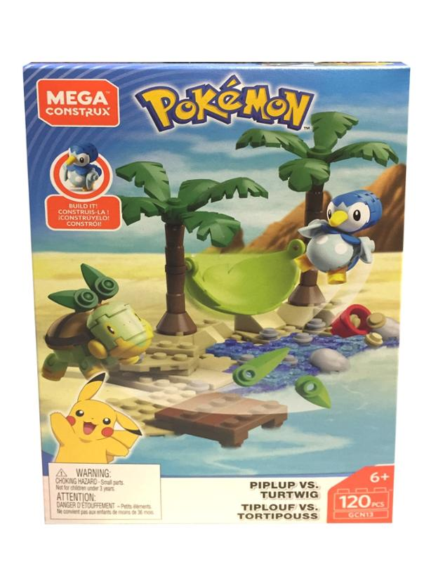 Mega Construx Pokemon Battle Piplup Vs. Turtwig