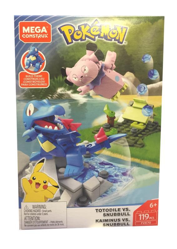 Mega Construx Pokemon Battle Totodile Vs. Snubbull