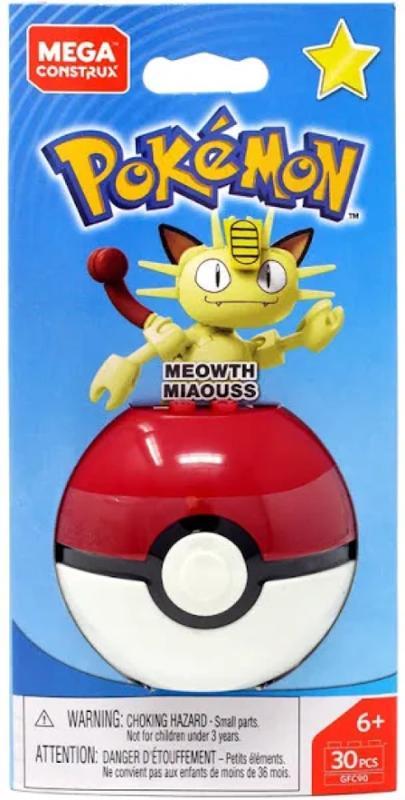 Mega Construx Pokemon Ball Meowth