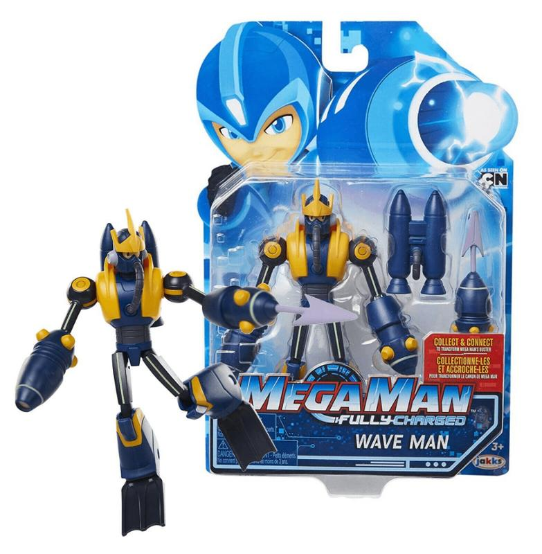 Mega Man Fully Charged Wave Man Action Figure