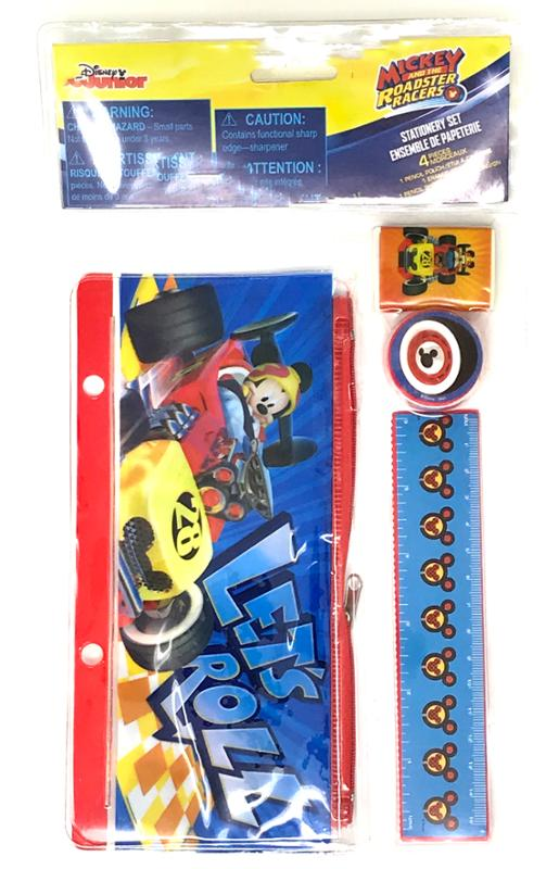 Mickey And The Roadster Coloring Book Coloring Pencils and Stationery Set