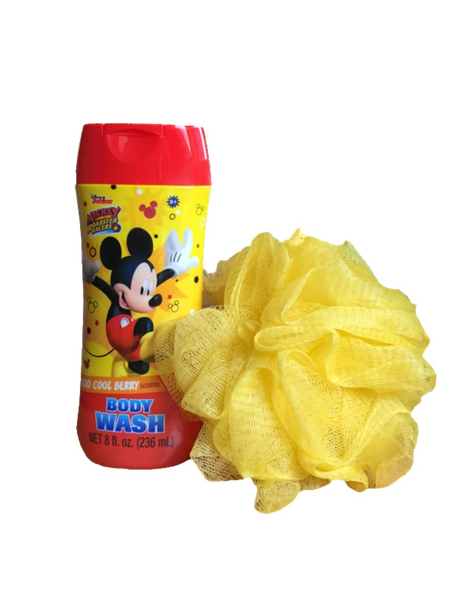 Mickey And The Roadster Racers Body Wash and Bath Pouf