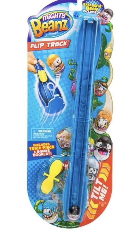 Mighty Beanz See Saw Flip Track Blue and 8 Pack Mighty Beanz Bundle