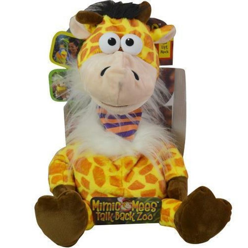 Mimic Mees Talk Back Zoo Giraffe in Box, 12 Inch
