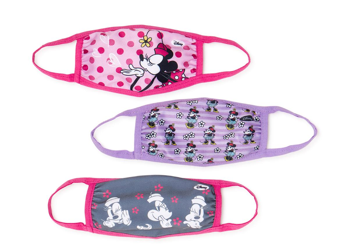 Minnie Mouse Fabric Face Masks 3 Pack