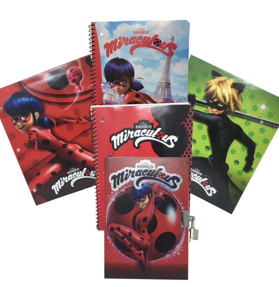 Miraculous Ladybug Themed 5 Piece Stationery Set