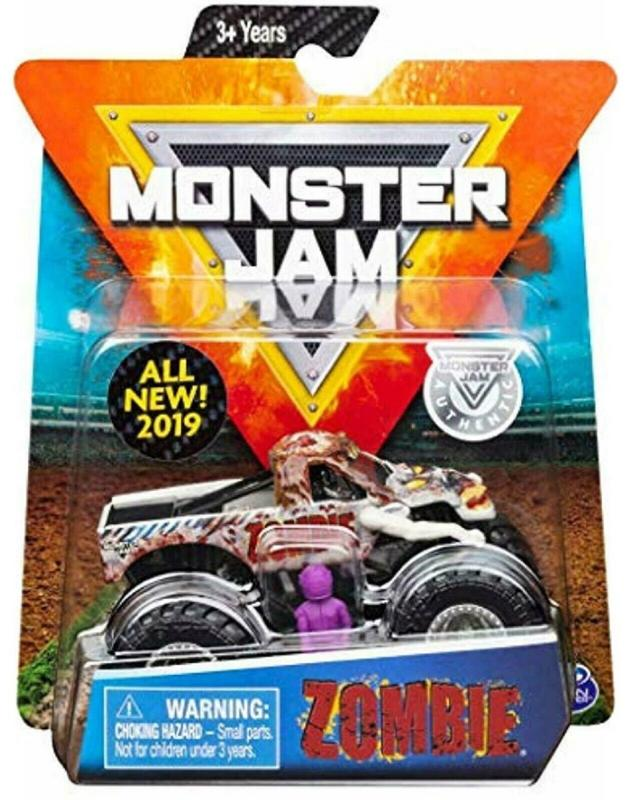 Monster Jam Crazy Creatures Zombie 1:64 Scale Diecast Truck with Figure