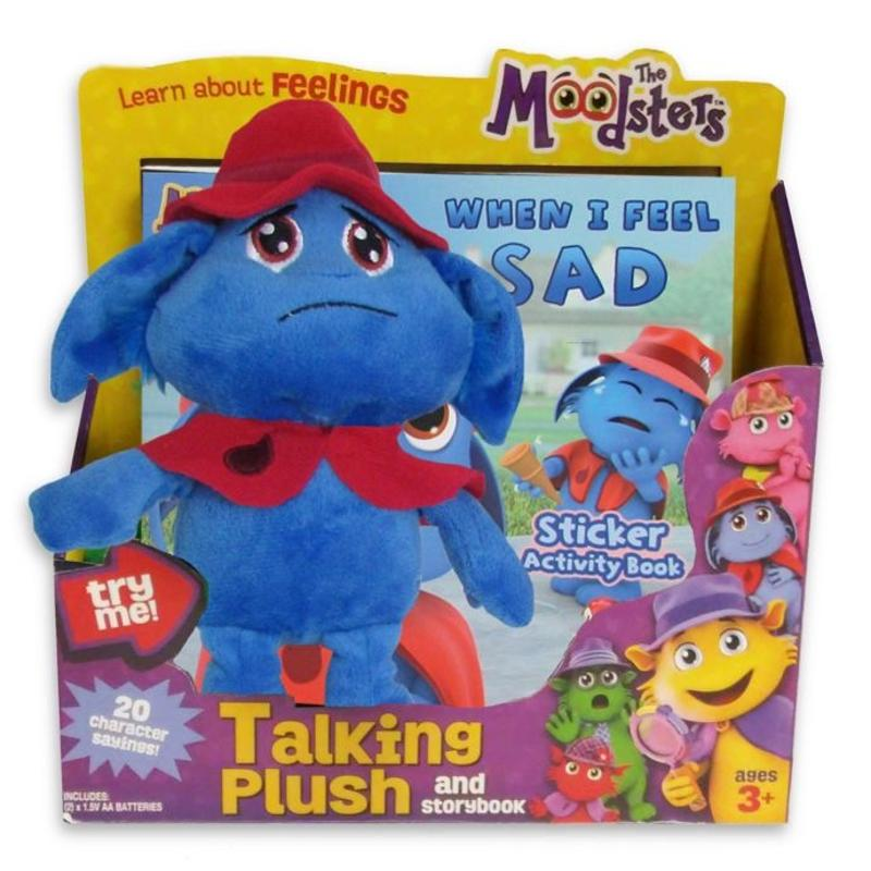 The Moodsters Plush and Activity Book Sad