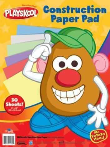 Mr. Potato Head Construction Paper 30 Multicolor Sheet 3 Pack