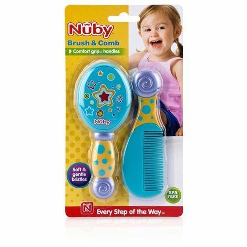 Baby Comb and Brush Set Blue