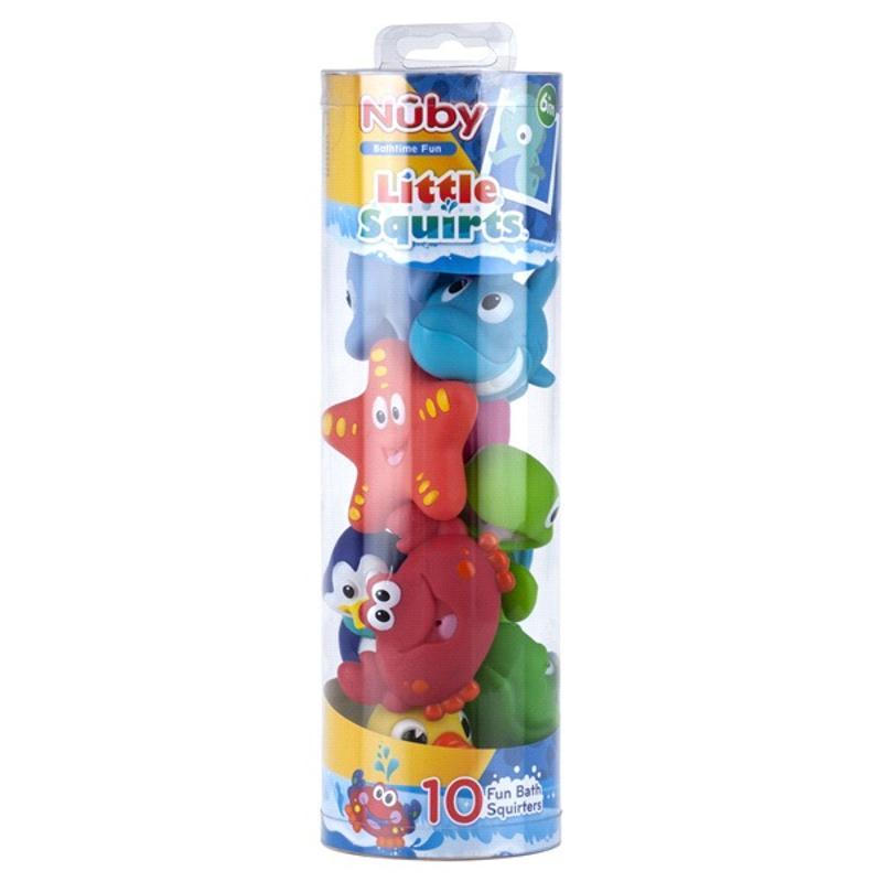 Little Squirts Fun Bath Toy 10 Piece