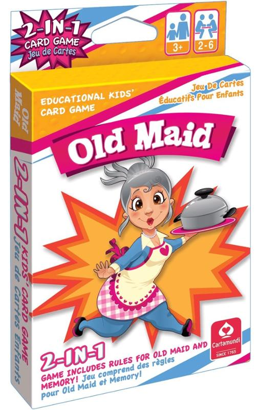 Old Maid 2 in 1 Kids Card Game