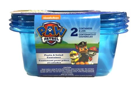Paw Patrol Salad Container, 2 Pack