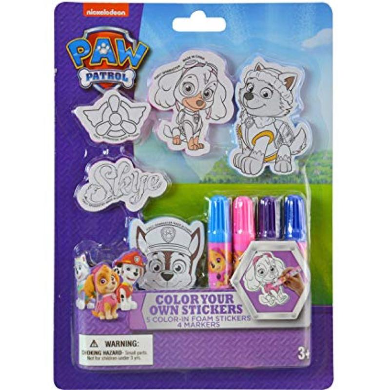 Paw Patrol Color Your Own Sticker Set