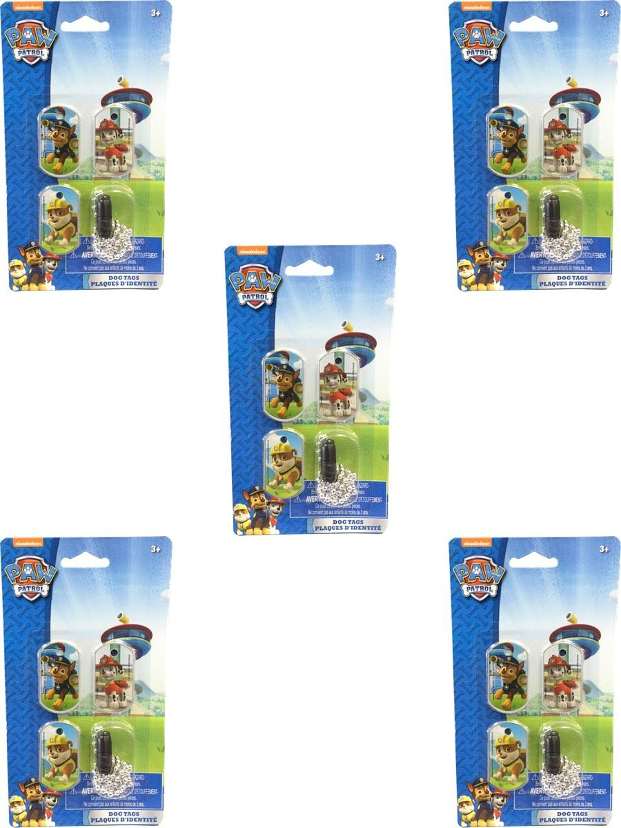 Paw Patrol Dog Tags and Chain 5 Piece Set