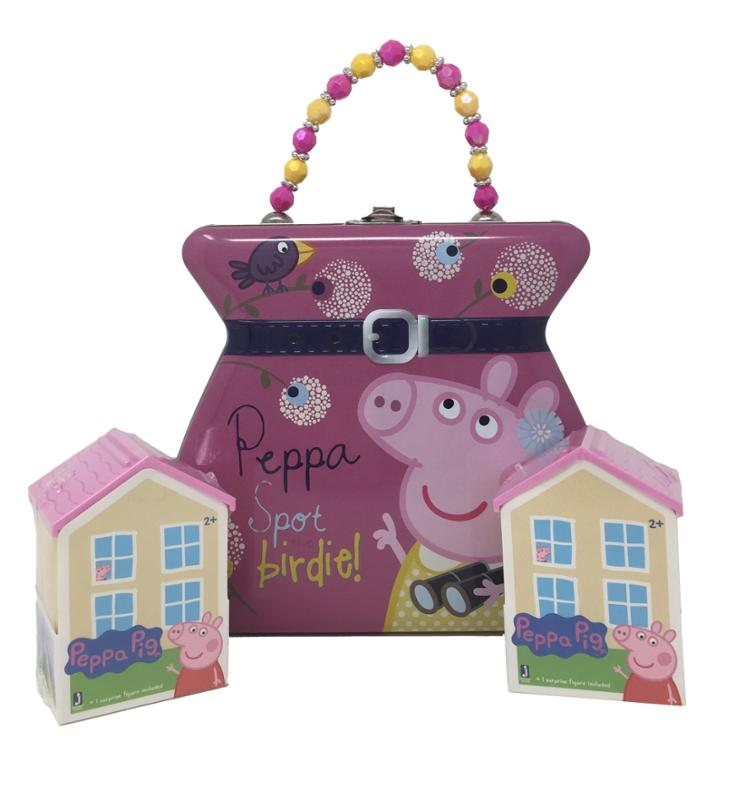 Peppa Pig Tin Purse and 2 Mystery Houses