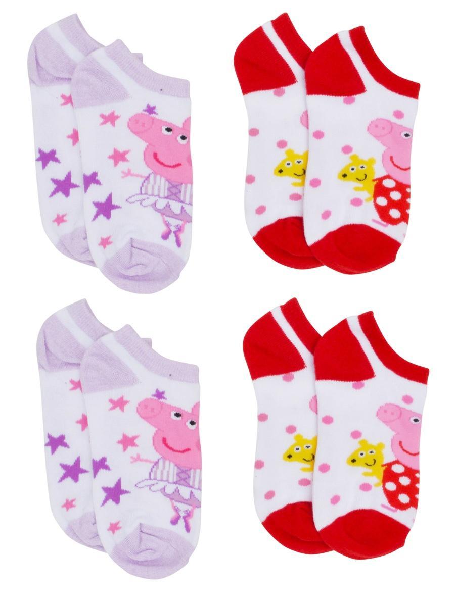 Peppa Pig 4 Pack Ankle Socks