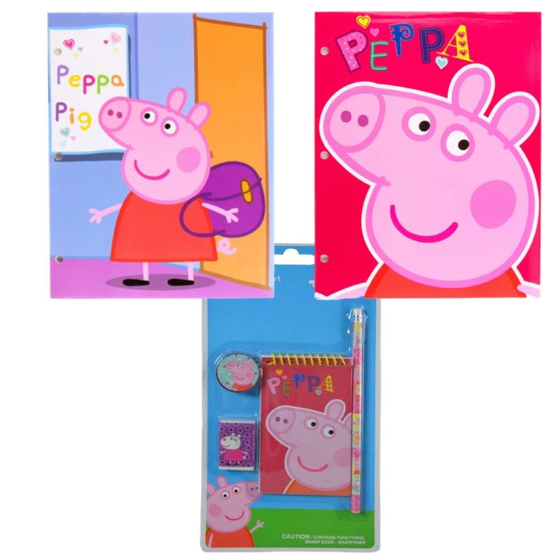 Peppa Pig 6 Piece Stationery and Portfolio Set