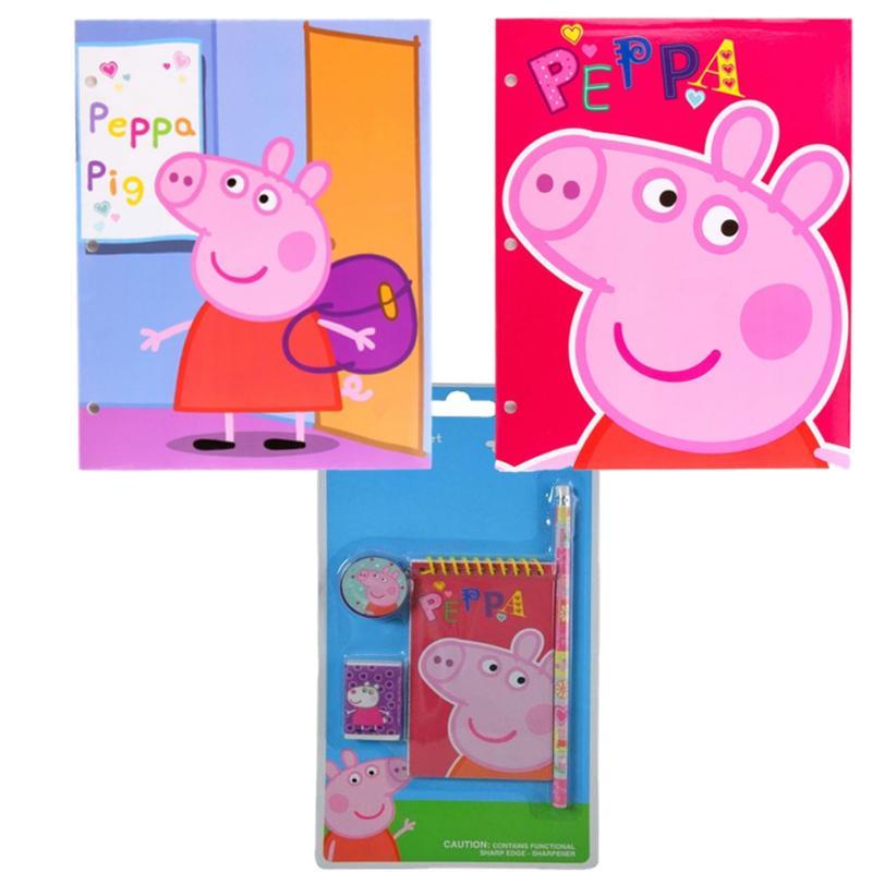 Peppa Pig 6 Piece Stationery and Portfolio Set