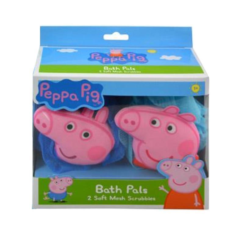 Peppa Pig Bath Pouf 2 Pk in Window
