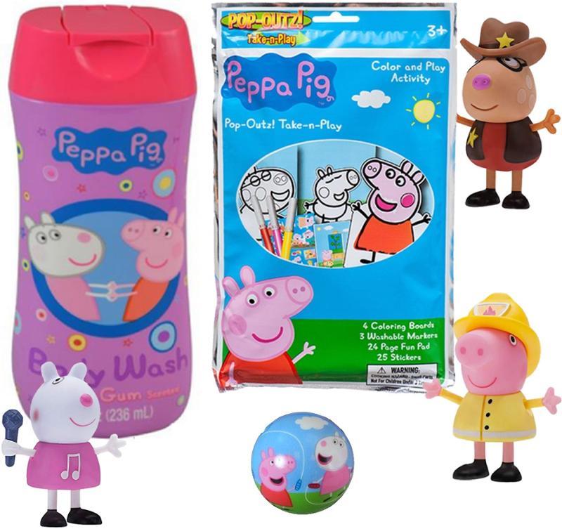Peppa Pig Foam Ball, Bubble bath, Activity Book & Figures 2  pc Gift Set