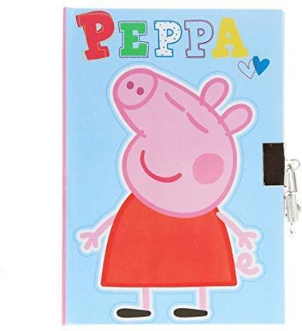 Peppa Pig Diary with Lock and Key