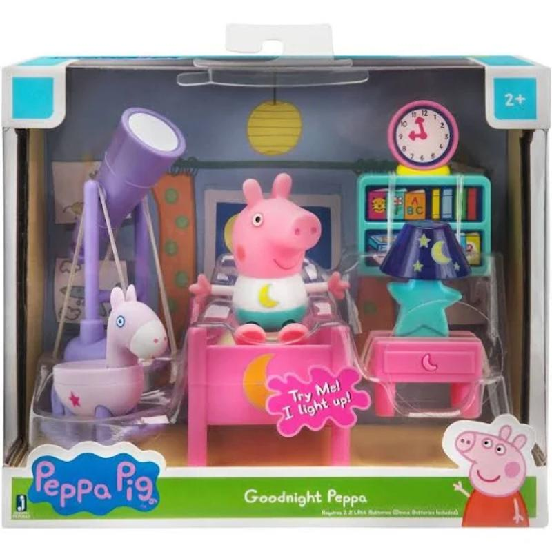 Peppa Pig Little Rooms Goodnight Peppa Playset
