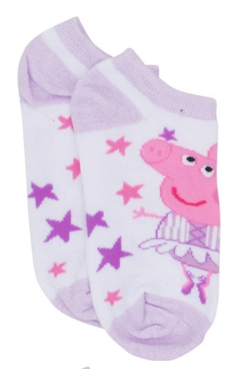 Peppa Pig Purple Stars Ankle Socks