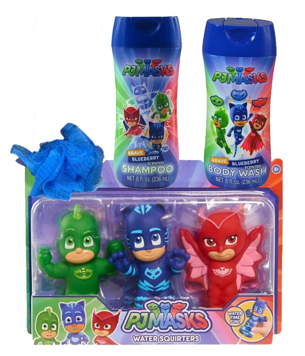 PJ Masks Bath Squirts, Shampoo,Pouf and Body Wash